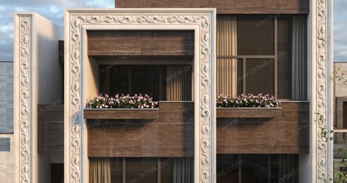 2 نمای لوکس ساختمان